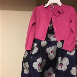 Janie and Jack girl dress and cardigan